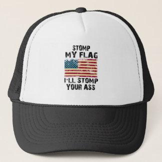 pare mi bandera que pisaré fuerte su gorra de camionero