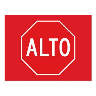 Pare, señal de tráfico, México Postal
