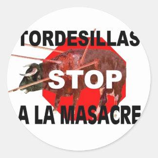 Pare Tordesillas un La Masacre Pegatina Redonda