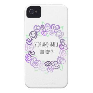 Pare y huela los rosas, caso del iPhone 4 Funda Para iPhone 4