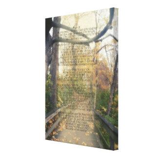 Pared cristiana del verso de la biblia de la foto lienzo