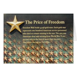 Pared de la libertad, monumento de la Segunda Tarjeta De Felicitación