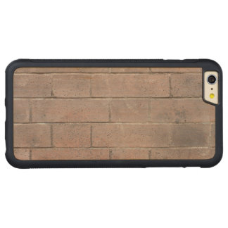 Pared de ladrillo funda para iPhone 6 plus de carved® de nogal