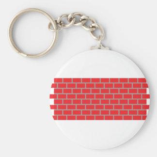 pared de ladrillo roja llavero redondo tipo chapa