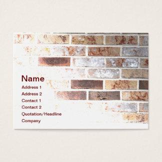 pared de ladrillo tarjeta de negocios