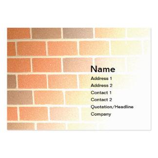 pared de ladrillo tarjetas de negocios
