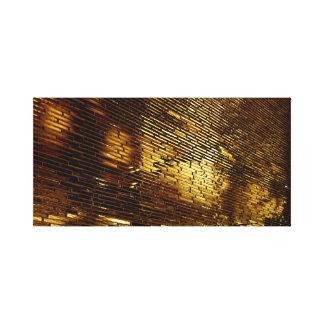 Pared de oro lienzo