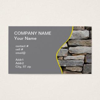 pared de piedra apilada tarjeta de visita