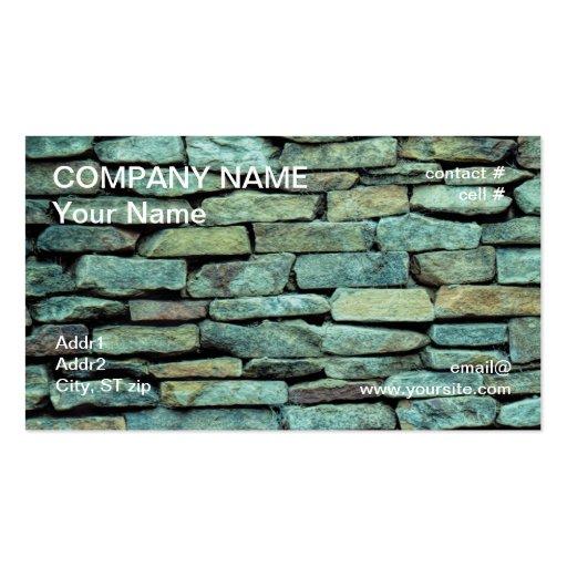 pared de piedra apilada tarjetas de visita