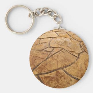 Pared de piedra decorativa llavero redondo tipo chapa