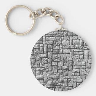 Pared de piedra gris llaveros
