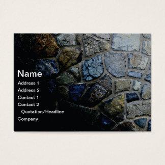 pared de piedra tarjeta de visita