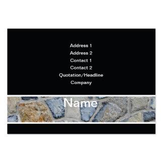 pared de piedra plantilla de tarjeta de visita