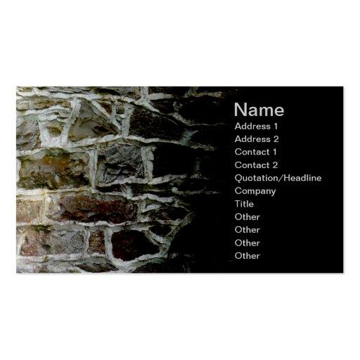 pared de piedra y mortero tarjeta de visita