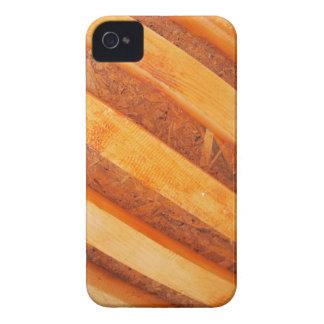 Pared de tableros de madera rojos iPhone 4 Case-Mate protector