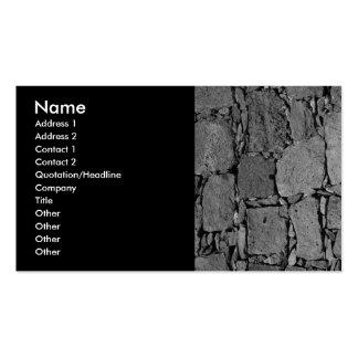 Pared del basalto tarjetas de visita