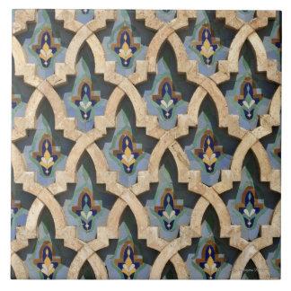 Pared del mosaico, Hassan II Mezquita-Casablanca Tejas