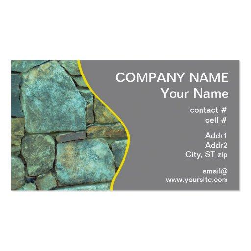 Pared exterior de piedra natural tarjetas de negocios