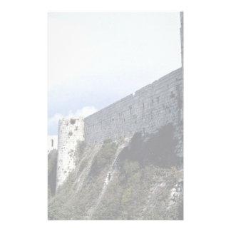 Pared externa, Chevaliers del DES de Krak, Siria Papelería Personalizada