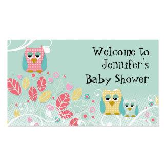Pared linda caprichosa del nombre del bebé de los  tarjeta de visita