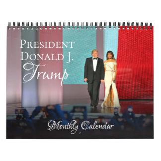 Pared mensual del calendario de presidente Donald