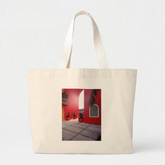 Pared roja bolsa