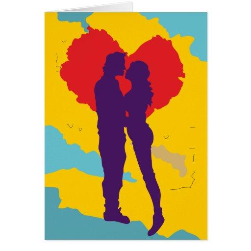 Pareja de enamorados ama love couple tarjeta