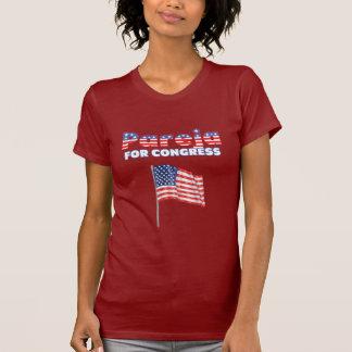 Pareja para el diseño patriótico de la bandera ame camiseta