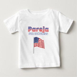 Pareja para el diseño patriótico de la bandera camiseta para bebé