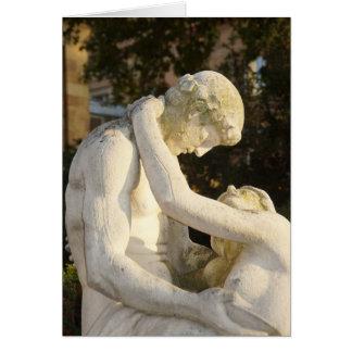 Pareja querida estatua - alegoría tarjeta de felicitación