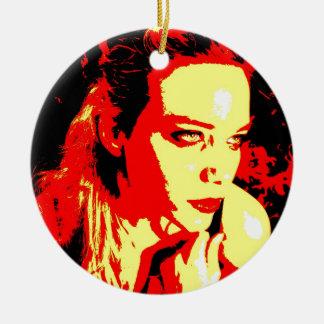 Parentescos maníacos 2 adorno navideño redondo de cerámica