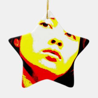 Parentescos maníacos 6 adorno navideño de cerámica en forma de estrella