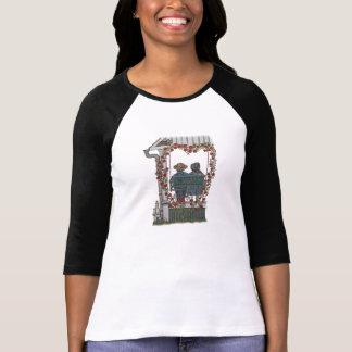 Pares de Amish en el oscilación del pórtico Camisetas