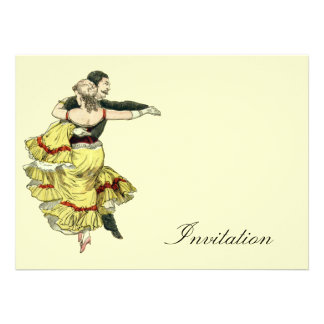 Pares de baile - el vintage invita invitacion personal