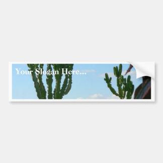 Pares de cactus en la playa pegatina para coche