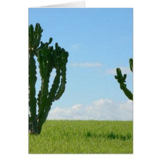 Pares de cactus en la playa tarjeta de felicitación