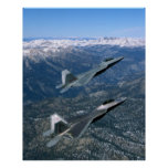 Pares de combatientes de la fuerza aérea F22 Posters