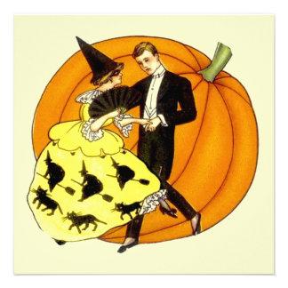 Pares de Halloween del baile Invitación
