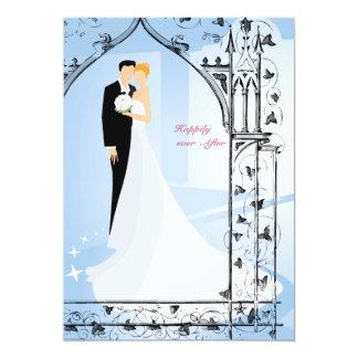 Pares de la puerta de la iglesia que casan la comunicados