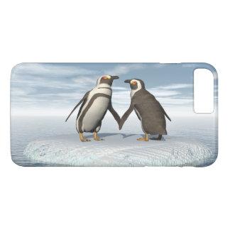 Pares de los pingüinos funda para iPhone 8 plus/7 plus