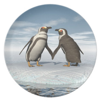 Pares de los pingüinos plato