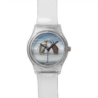 Pares de los pingüinos reloj de pulsera