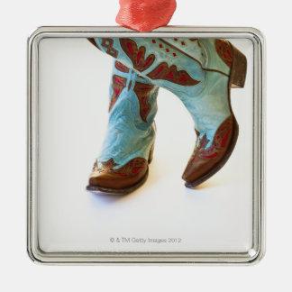 Pares de los zapatos 3 del vaquero ornatos