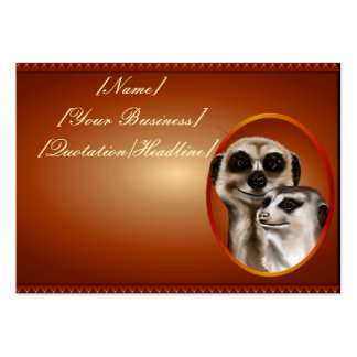 Pares de Meerkat profilecard_chubby_horizontal.,… Plantilla De Tarjeta De Negocio