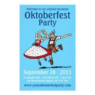 Pares del baile del fiesta de Oktoberfest del avia Folleto 14 X 21,6 Cm