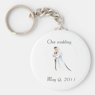 Pares del boda llaveros personalizados