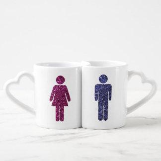 Pares del brillo set de tazas de café