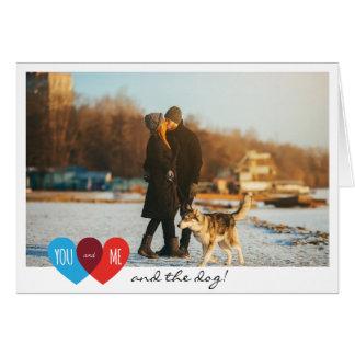 Pares del el día de San Valentín usted yo y el Tarjeta De Felicitación