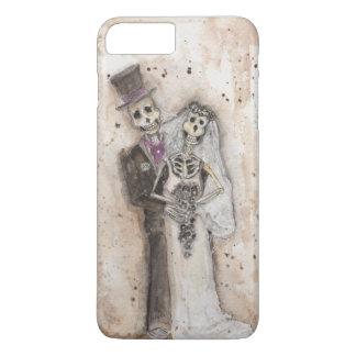 Pares del esqueleto de novia y del novio funda iPhone 7 plus