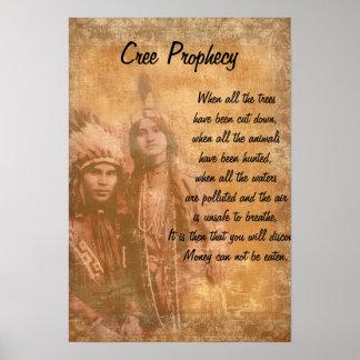 Pares del indio del nativo americano de la póster